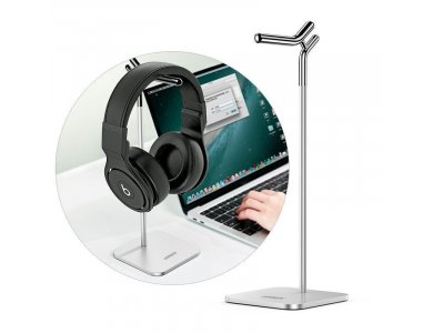 Ugreen Mount/ Stand for Headphones & Headset, Silver - 80701
