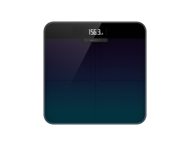 Amazfit Smart Scale, Body Fat, BMI via Fitness APP and Bluetooth, Black - A2003