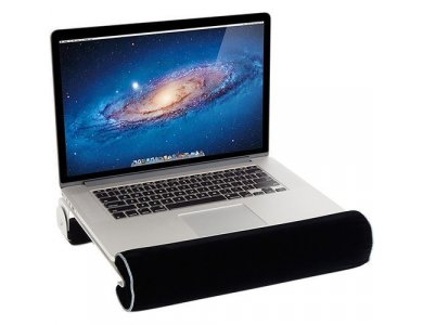 """Rain Design iLap, Lapdesk with heat dissipation system for Laptop / Macbook up to 13"""", Black/Silver - 10023"""