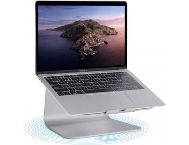 "Rain Design mStand360 Laptop Stand με Περιστρεφόμενη Βάση για Laptop έως 17"", Space Grey - 10074"