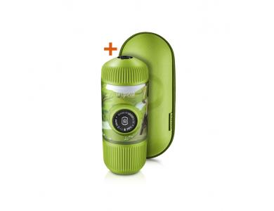 Wacaco Nanopresso GR Portable Espresso Machine, with Protectice Case, Journey Spring Run