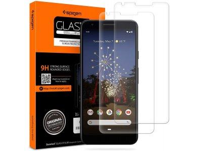 Spigen Google Pixel 3a XL GLAS.tR Full Cover Premium Tempered Glass Screen Protector, Σετ των 2 - F22GL26443