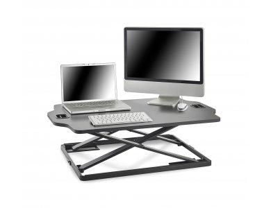 VonHaus Sit Stand Desk Dual, Γραφείο Laptop & Οθόνης, Ρυθμιζόμενο Ύψος, Ultra Slim - 05/123