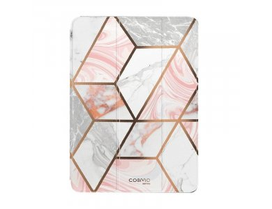 """i-Blason Cosmo iPad 8th Gen 2020 / 7th Gen 2019 10.2"""" Trifold case with Auto Sleep/Wake, Stand, Hard Back Cover, Marble Pink"""