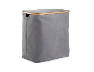 VonHaus Laundry Basket, 2 Compartments with Cap on 2 sides, Grey - 3008143