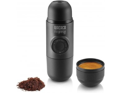 Wacaco Minipresso GR Φορητή Μηχανή Espresso Για Αλεσμένο Καφέ, Μαύρη