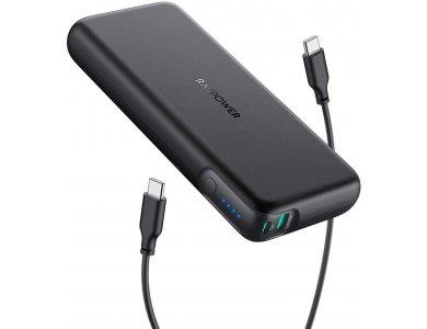 RAVPower Pioneer 20000 PD 60W USB-C Power Bank 20.000mAh Power Delivery, Μαύρο - RP-PB201