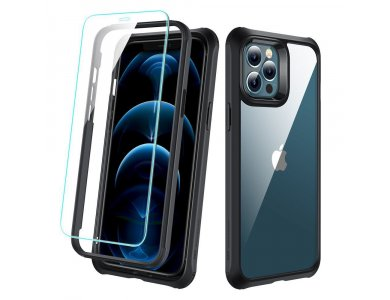 ESR iPhone 12 / 12 Pro Air Alliance Tough Full Body Rugged Case with Tempered Glass, Τransparent
