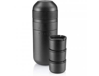 Wacaco Minipresso Kit, Έξτρα Αξεσουάρ για Μηχανή Minipresso GR, Περιλαμβάνει Tank+ & 3τμχ GR Filter Cups, Grey