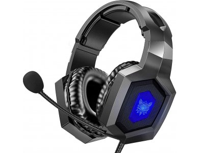 Onikuma K8 RGB LED Gaming Headset 7.1, Μαύρο, Noise-cancelling Microphone (PC / PS4 / Xbox / Switch / Mac / iOS)