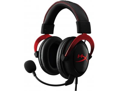HyperX Cloud II 7.1 Virtual Surround Sound, Pro Gaming Headset with Advanced USB Audio Control Box, Red - KHX-HSCP-RD