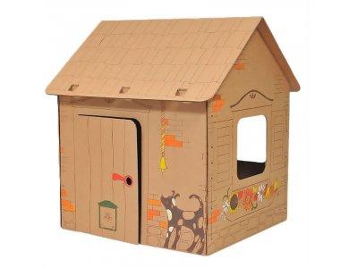 Allocacoc Annahouse Cabin House, Cardboard - DH0555/ANHSSP
