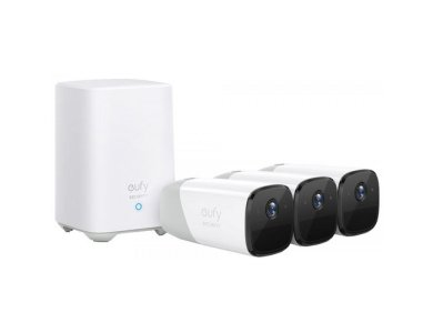 Anker eufyCam 2 Pro ΚΙΤ 3 Ασύρματων Καμερών 2K με Κέντρο, Human detection, Night Vision, by Eufy - T88523D2
