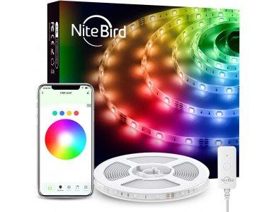 NiteBird SL2 Smart RGB LED Strip lights 5m, 16 Colours (Static & Rainbow), Wi-FI, compatible with Alexa, Google