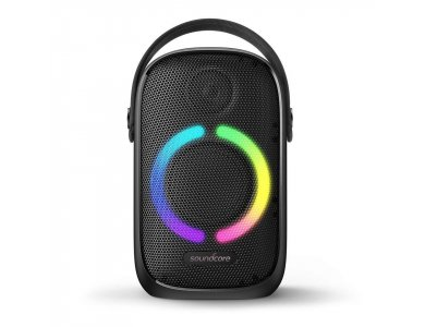 Anker Soundcore Rave Neo, Portable Waterproof Bluetooth Speaker 50W with RGB LED - A3395G11, Black