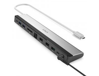 Vava 9-in-1 USB C Data Hub - USB-C*2 + LAN*1 + USB3.1*2 + USB*2 + SD/Micro SD Card reader*1 + 100W PD Charging*1 - VA-DK002