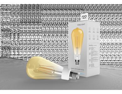 Yeelight Filament ST64 smart bulb LED WiFi, Warm White 6W E27 Dimmable (No need of Hub) - YLDP23YL