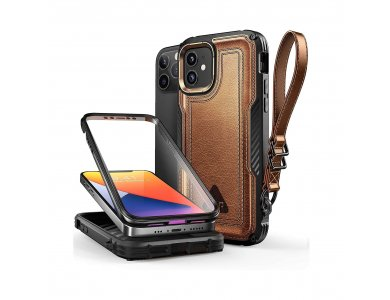 Supcase iPhone 12 / 12 Pro Unicorn Beetle Royal Leather Rugged Full Body Θήκη, Μαύρη
