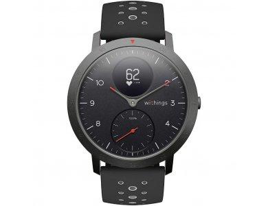 Withings Steel HR Sport Hybrid Smartwatch 40mm, Activity Fitness Heart Rate Sleep Monitor, GPS, Waterproof 50μ. Black