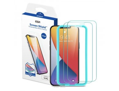 ESR iPhone 12 / 12 Pro Tempered Glass Premium Screen Protector με Installation frame, Σετ των 2
