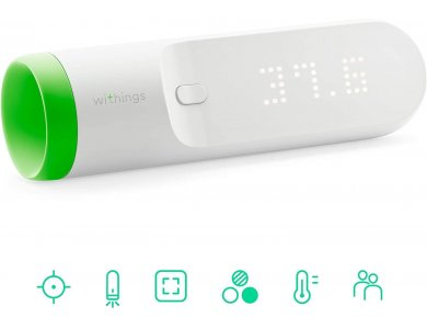 Withings Thermo, Smart Temporal Thermometer, No Contact Required with APP & WiFi - SCT01