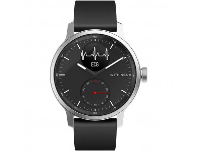 Withings ScanWatch Hybrid Smartwatch 42mm, Activity Fitness Heart Rate Sleep Monitor, GPS, ECG & Oximeter, Αδιάβροχο 50μ. Μαύρο