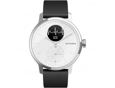 Withings ScanWatch Hybrid Smartwatch 42mm, Activity Fitness Heart Rate Sleep Monitor, GPS, ECG & Oximeter, Αδιάβροχο 50μ. Λευκό