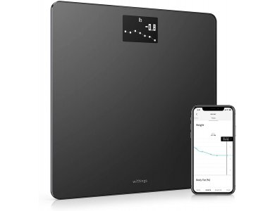 Withings Body, Smart Scale, BMI via Fitness APP with Bluetooth & WiFi, Black - WBS06-BLK