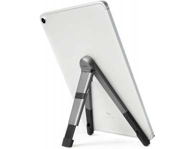Twelve South Compass Pro Stand for iPad / Tablet, 3 Viewing/Typing Angles, with Protective Sleeve, Space Grey, 12-1805