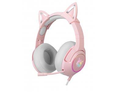 Onikuma K9 Pink Kitty Quartz RGB Gaming Headset 7.1 Noise-cancelling Microphone (PC / PS4 / Xbox / Switch / Mac / iOS)