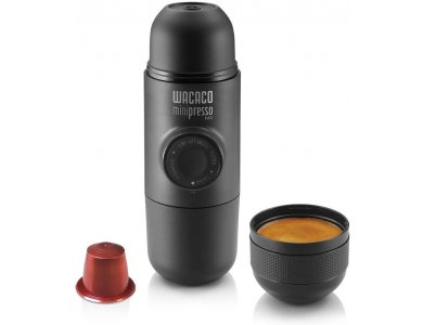 Wacaco Minipresso NS Φορητή Μηχανή Espresso Για Καφέ σε Κάψουλες, Μαύρη