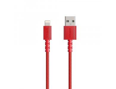Anker PowerLine Select+ 0.9μ. Lightning καλώδιο για Apple iPhone / iPad / iPod MFi, με Νάυλον Ύφανση, Κόκκινο - A8012H91