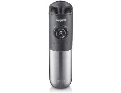 Wacaco Nanovessel 3-in-1 Vacuum Insulated Flask, Θερμός Ανοξείδωτο Ατσάλι, Ασημί