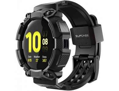 Supcase Galaxy Watch Active 2 44mm Unicorn Beetle Pro Rugged Θήκη + Λουράκι, Black