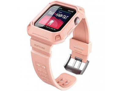 Supcase Apple Watch 6/SE/5/4 (44mm) Unicorn Beetle Pro Case + Strap Bands, Pink