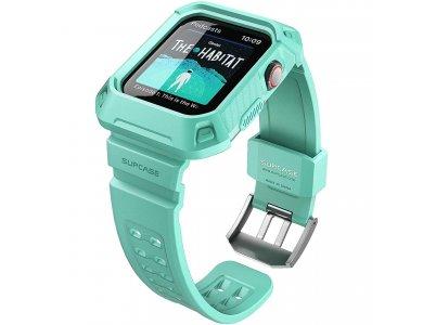 Supcase Apple Watch 6/SE/5/4 (44mm) Unicorn Beetle Pro Case + Strap Bands, Mint Green