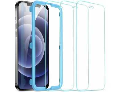 ESR iPhone 12 Mini Tempered Glass Premium Screen Protector with Installation frame, Set of 3