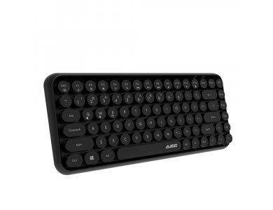 Ajazz 308i Ultra Compact Slim Profile Bluetooth Πληκτρολόγιο Multi-Device, Retro Keyboard με Round Keys, Μαύρο