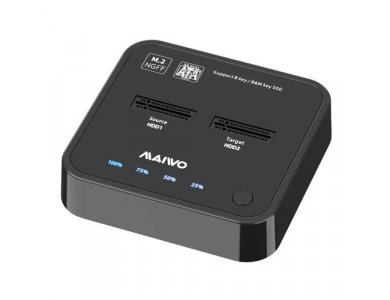 Maiwo K3016S 2-Bay NVME Docking Station, USB-C 3.1 GEN1 5Gbps, Dual Bay Clone Duplicator, B + M Key