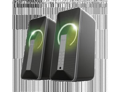 Trust Arva RGB Ηχεία PC 20W Stereo με USB & Bluetooth και φωτισμό LED, Μαύρα - 23820