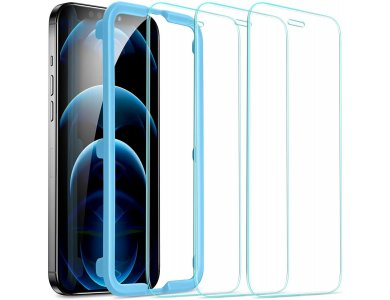 ESR iPhone 12 Pro Max Tempered Glass Premium Screen Protector με Installation frame, Σετ των 3