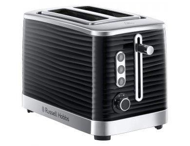 Russell Hobbs Inspire 2 Slice Toaster - 24371-56, Gloss Black/Chrome
