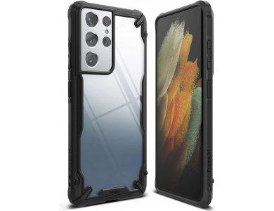 Ringke Fusion X Galaxy S21 Ultra Military Grade Case Heavy Duty, Black