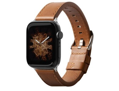 Ringke Apple Watch 4 / 5 / 6 / SE / 44mm, Leather One Classic Band, Brown
