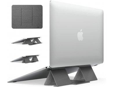 Ringke Folding Stand 2, Αντιολισθητικό & Φορητό Laptop Slim Σταντ, Open Space Cooling, 2 Επίπεδα τοποθέτησης, Gray