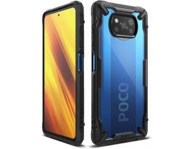 Ringke Fusion X Poco X3 NFC Military Grade Case Heavy Duty, Black