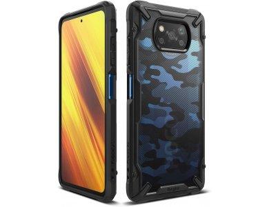 Ringke Fusion X Poco X3 NFC Military Grade Case Heavy Duty, Camo Black