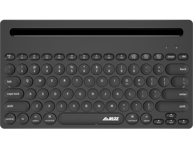 Ajazz 320i Ultra Compact Slim Profile Bluetooth Keyboard Multi-Device with Tablet / Smartphone placement, Black