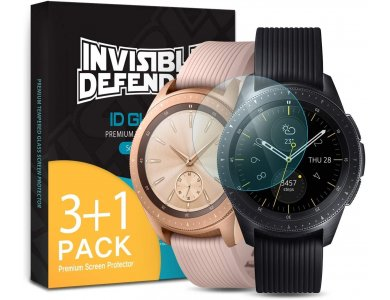 Ringke Galaxy Watch 41mm / 42mm Invisible Defender 4x ID Glass, Προστασία Οθόνης - G4as015, Σετ των 4