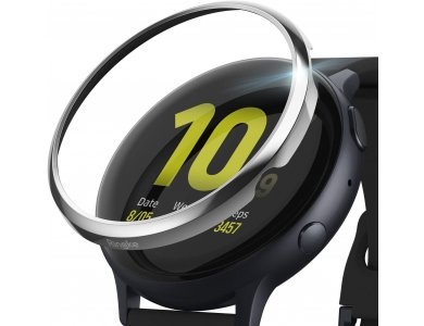 Ringke Galaxy Watch Active 2 44mm Bezel, Stainless Steel - GWA2-44-01, Glossy Silver